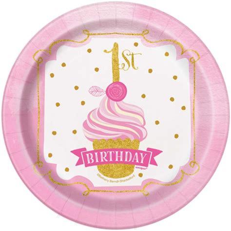 zum 1 geburtstag mädchen mini partyteller zum1 geburtstag m 228 dchen 1st birthday