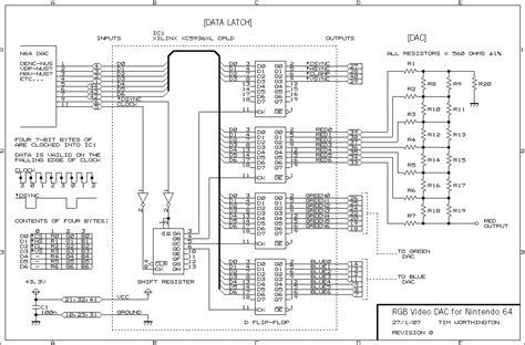N64 Controller Wiring Diagram by Replacement Nintendo 64 Rgb Dac