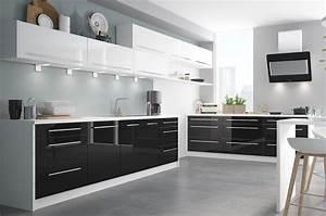 Küche Weiß Hochglanz : k chenzeile k chenblock 480cm wei wei schwarz ~ Watch28wear.com Haus und Dekorationen