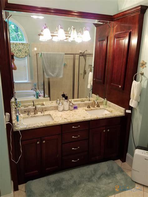 chantilly lace master bath  cabinet girls