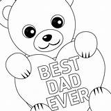 Fathers Coloring Printable Cards Card Dad Father Pages Printables Happy Bear Lovepapercrafts Sheets Crafts Easy Teddy Paper Svg Vest Fishing sketch template