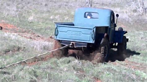 dodge power wagon pulling log youtube