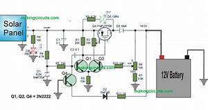 Solar Charger Controller Circuit Using Transistors