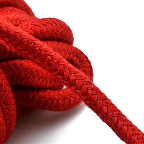 Angel Kiss Red Cotton Rope  (32 feet/10m)   Natural Soft