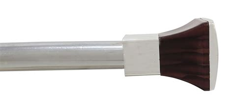 brown square shape drapery curtain rod plastic ends