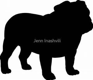 """Bulldog Silhouette(s)"" Stickers by Jenn Inashvili Redbubble"