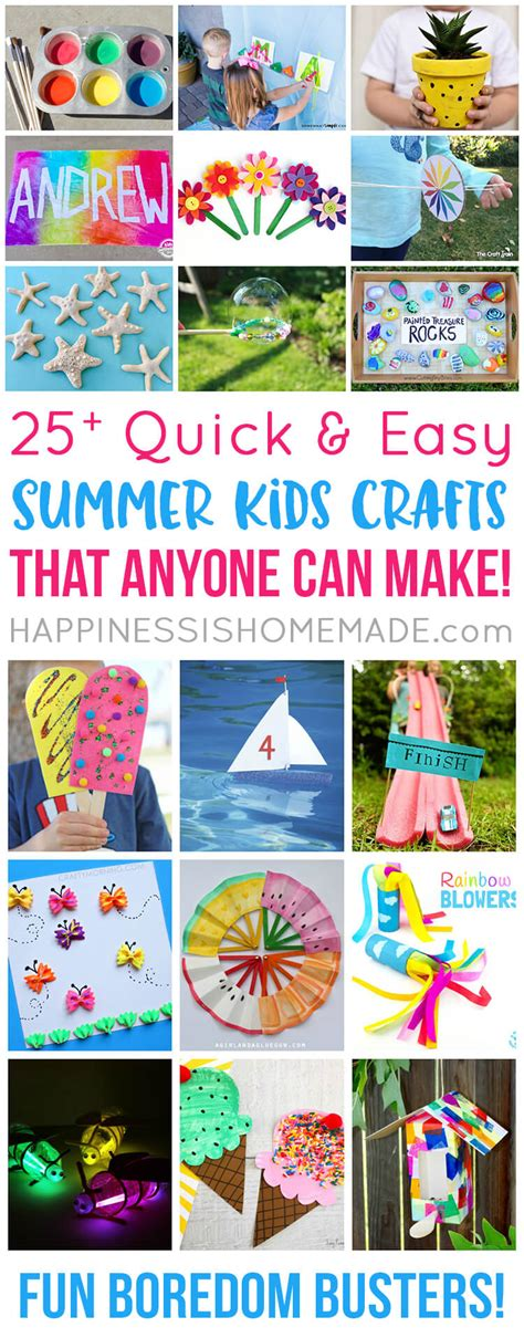 easy summer crafts that anyone can make happiness 717 | 25 Quick and Easy Summer Kids Crafts That Anyone Can Make