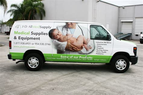 Medical Supply Delivery Van Wrap Graphics Fort Lauderdale ...