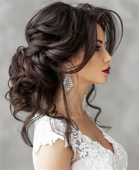 lace hollow  short dress   wedding hairstyles