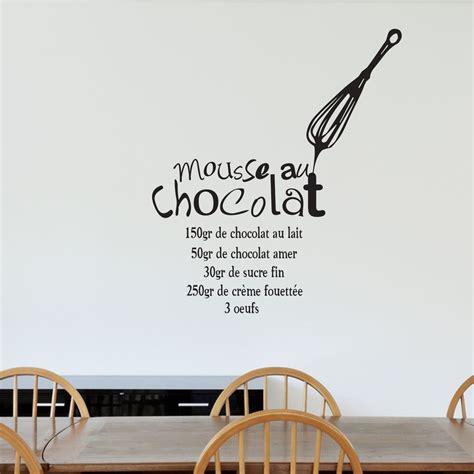 stickers recette de cuisine sticker recette quot mousse au chocolat quot stickers cuisine