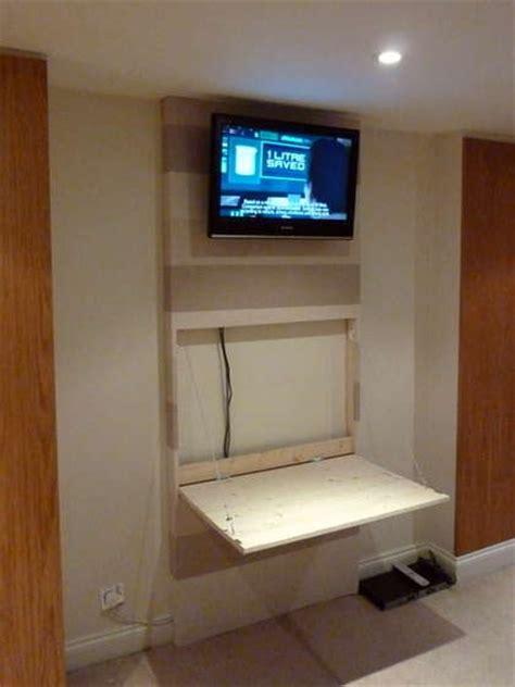 tv wall mount desk hidden pc wall mount tvs