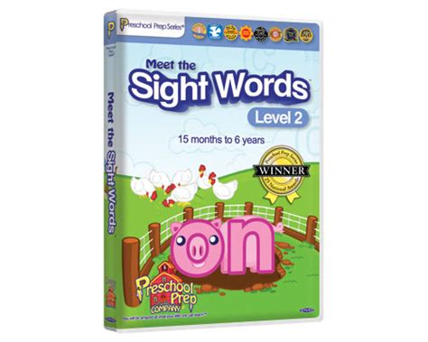 meet the sight words 2 preschool prep company 164 | sightwords2 dvd large 01