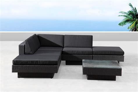 canapé noir emejing salon de jardin avec canape d angle contemporary