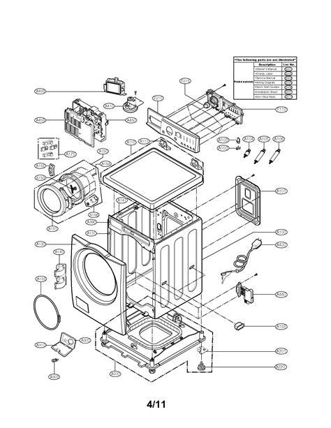 lg washing machine parts model wmcw sears partsdirect