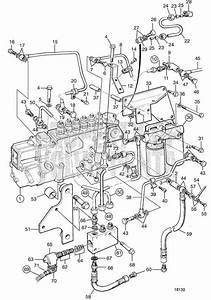 Volvo Penta Exploded View    Schematic Fuel Injection Pump