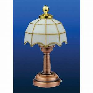 Streets ahead battery powered white tiffany table lamp for 6 volt table lamp