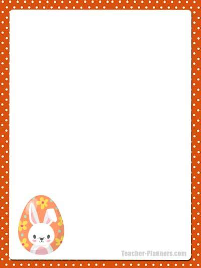 cute easter bunny stationery  printable unlined paper timesaver
