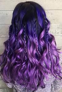 95 Purple Hair Color Highlights Lowlights For Dark ...