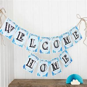 welcome bunting 'welcome home' bright bunting by little ...