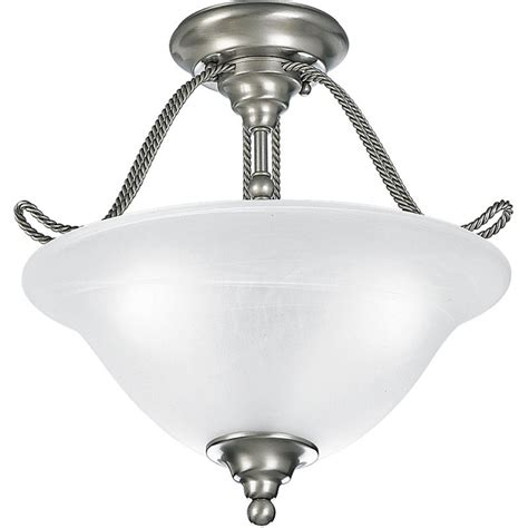 three l semi flush mount ceiling light fixture with