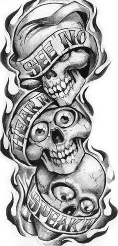 39 Best See No Evil Tattoo Designs For Men images | Evil skull tattoo, Skull tattoos, Tattoo