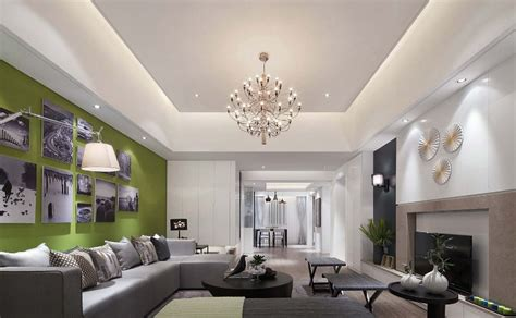 latest false ceiling design  rectangular living room