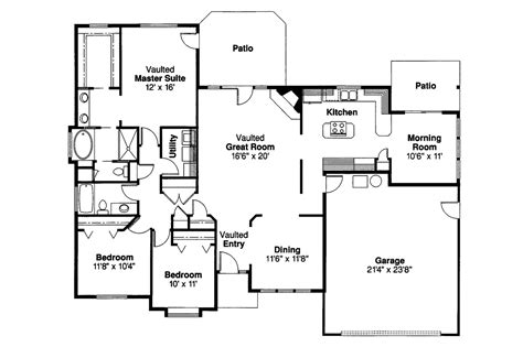 traditional floor plans traditional house plans cottonwood 30 151 associated