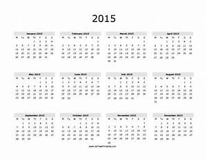 2015 calendar free printable myfreeprintablecom With free downloadable 2015 calendar template