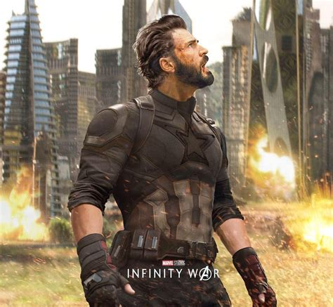 new avengers infinity war poster finds captain america in