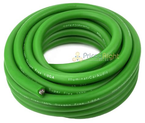 0 25 wire green 1 0 lifier power ground car audio 25 ft cable ebay