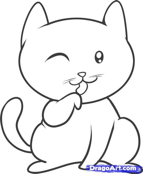 cat drawing easy easy drawing for cliparts co