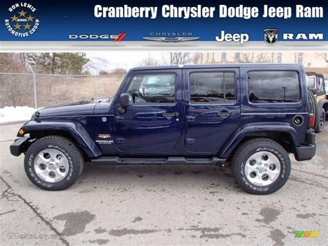 jeep dark blue 2013 true blue pearl jeep wrangler unlimited sahara 4x4