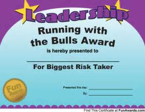 Funny Office Award Certificates