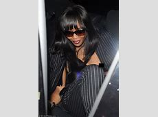 Naomi Campbell's nipple exposed as she leaves Madonna's
