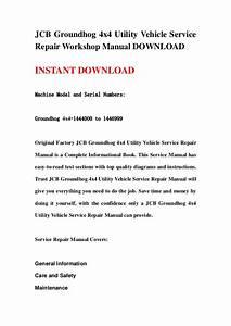 Jcb Groundhog 4x4 Service Repair Manual Download