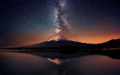 Mountain With Milky Way Wallpaper Wallpaper Wallpaperlepi