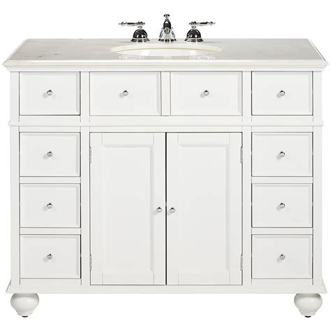 white bathroom vanity home depot home decorators collection hton harbor 44 in vanity in