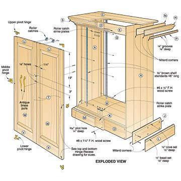 bookcase with legs 3 assorted cabinet plans you can try your on