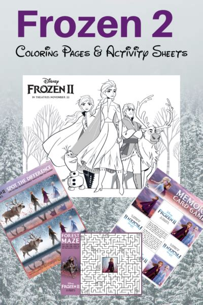 frozen  coloring pages activity sheets  printable