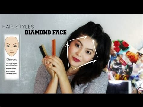 hairstyles  diamond shaped faces youtube