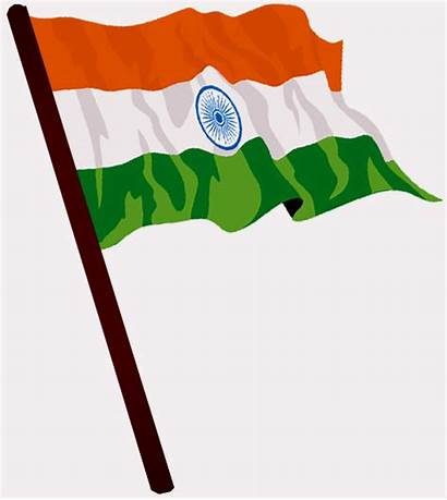 Flag Indian India Flying Clipart Independence Republic
