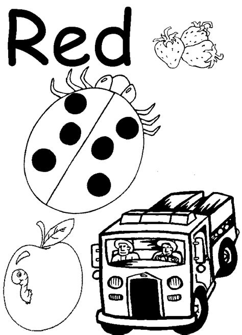 pages  color red  preschoolers red coloring page
