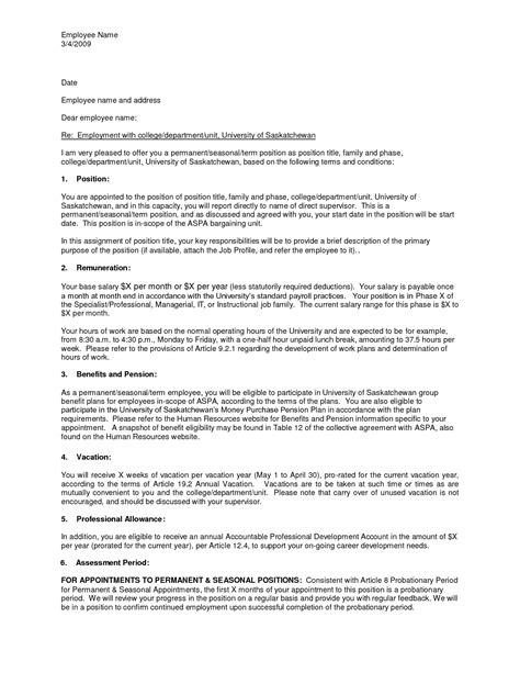 employment offer letter template formal offer letter formal letter template