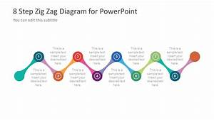 Free 8 Step Zig Zag Powerpoint Diagram