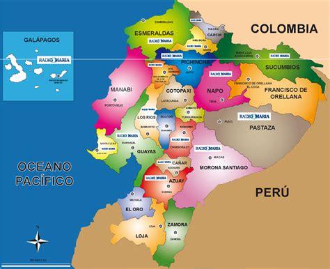 Mapas de Ecuador: Mapa del ecuador a color