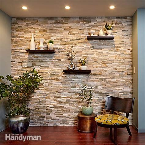 Tips And Techniques For Painting Walls Windows And Create A Faux Stone Accent Wall The Family Handyman