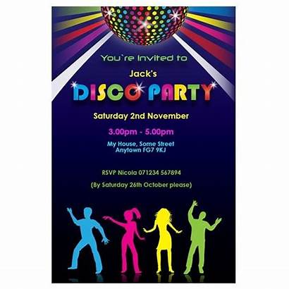Disco Party Invitations Theme Printable Birthday Halloween