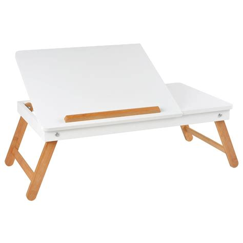 bureau nomade table ordinateur nomade blanche la chaise longue
