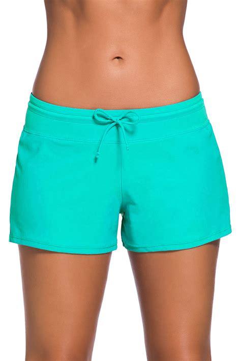 sports drawstring waist shorts mint swim boardshort lvl clothing