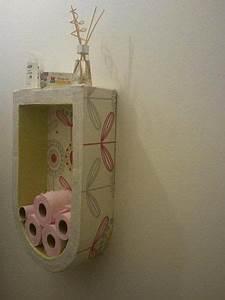 Etagere Papier Toilette : ranger votre papier toilette tag re mural en carton bathroom pinterest cardboard ~ Teatrodelosmanantiales.com Idées de Décoration